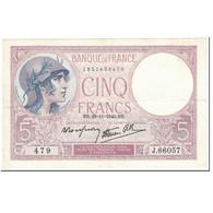 France, 5 Francs, Violet, 1940, 1940-11-28, TTB, Fayette:4.15, KM:83 - 1871-1952 Anciens Francs Circulés Au XXème