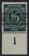 Bizone 1948 - Mi-Nr. 59 I P UR ** - MNH - Band - BPP-Signatur - Zone Anglo-Américaine