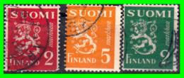 FINLANDIA  ( SUOMI )  SELLO AÑO 1945-48   ESCUDO NACIONAL - Finland