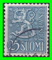 FINLANDIA  ( SUOMI )  SELLO AÑO 1954   ESCUDO NACIONAL - Finland