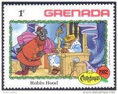460 Grenada Disney Robin Hood Roi Lion King MNH ** Neuf SC (GRE-112c) - Félins