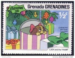 462 Disney Grenada Lady Tramp Belle Clochard Noel Christmas MNH ** Neuf SC (GRG-46b) - Disney