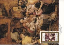 Carte Maximum Peinture Frans Floris St Christopher Nevis Anguilla - Stamps