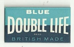 """6323 """" BLUE -DOUBLE LIFE-BRITISH MADE """"-CONFEZIONE CON 1 LAMETTA - Lamette Da Barba"""