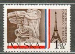 POLAND MNH ** 2413 Monument Aux Combattants Polonais à Paris Tour Eiffel - Ungebraucht