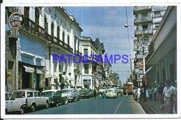 127688 PARAGUAY ASUNCION STREET CALLE PALMA & TRANVIA TRAMWAY POSTAL POSTCARD - Paraguay