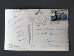 Madagascar N°325 Sur CP - TAD VAVATENINA 1957 - (B1550) - Madagascar (1889-1960)