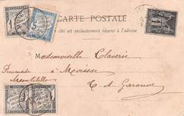 CHIFFRE TAXE - POSTED IN 1903 ~ AN OLD POSTCARD #9R58 - 1859-1955 Oblitérés