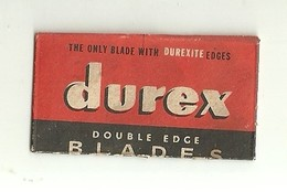 "6328 "" DUREX-THE ONLY BLADE WITH DUREXITE EDGES-DOUBLE EDGE BLADES ""-CONFEZIONE CON 1 LAMETTA - Lamette Da Barba"