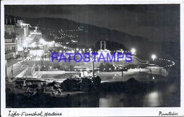 127692 AFRICA MADEIRA FUNCHAL VIEW PARTIAL OF NIGHT POSTAL POSTCARD - Cartes Postales