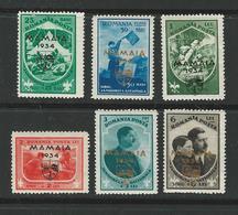 ROMANIA 1934 - MAMAIA - N.  476 A / F ** , Serie Completa - Cat. 108,00 € - Lotto N. 2239 - Neufs
