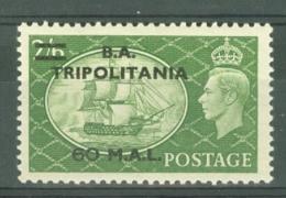 Tripolitania: 1951   KGVI 'B. A. Tripolitania' OVPT   SG T32    60l On 2/6d    MH - Tripolitania