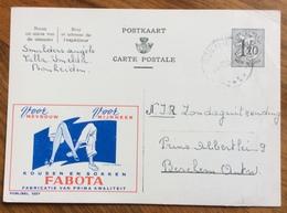 CALZE UOMO DONNA KOUSEN EN SOKKEN  FABOTA  ADVERTISING PUBBLICITA' SU CARTE POSTALE BELGIQUE - 1864-04 (Christian IX)