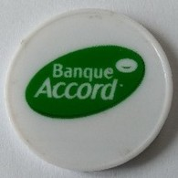 Jeton De Caddie - Banque ACCORD - En Plastique - - Jetons De Caddies