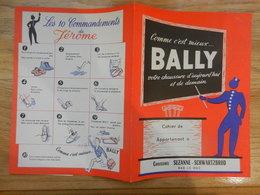 PROTEGE CAHIER  CHAUSSURE  BALLY BAR LE DUC SUZANNE SCHWARTZBOD LES DIX COMMANDEMNTS DE JEROME - Copertine Di Libri