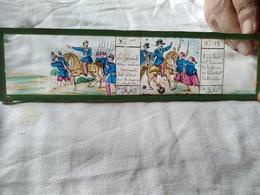 Plaque De Verre Peinte à La Main  Lanterne Magique - Campagne D'Italie 1859 - Le Général Mac-Mahon ...Circa 1860  - TBE - Diapositiva Su Vetro