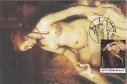 Carte Maximum Peinture 2006 Rembrandt San Marin - Storia Postale