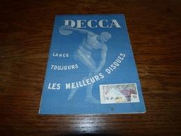 Catalogue Disques Decca Mai 1951 Hommage Ernest Ansermet - Musique & Instruments