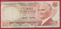 Turquie 20 Lira 1974 (Sign #) Dans L 'état - Turquia