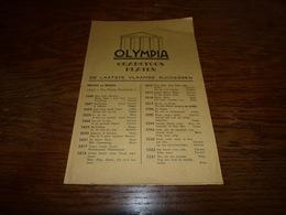 Catalogue Disques Olympia Gramoffon Platen De Laatste Vlaamse Successen Juillet 1951 4p - Musique & Instruments