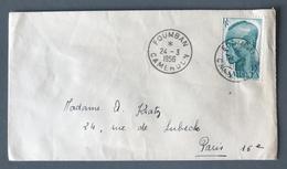 Cameroun, Lettre De FOUMBAN Pour Paris 1956 - (B1597) - Cameroun (1915-1959)
