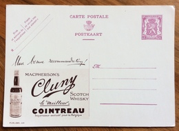 ENOLOGIA SCOTCH WHISKY CLUNY  COINTREAU -  ADVERTISING PUBBLICITA' SU CARTE POSTALE BELGIQUE - 1864-04 (Christian IX)