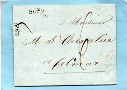 """Linéaire """"49 RHEIMS""""18 Vendémiaire 14 ème Année,L.A.C. Pour COLMAR. - 1801-1848: Precursori XIX"""