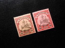 D.R.Mi 14/15 - 50/80Pf*MLH - Deutsche Kolonien ( TOGO ) 1900/1919 - Colony: Togo