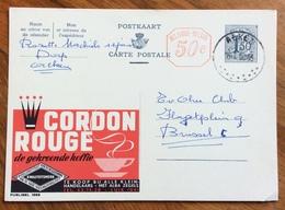 CAFFE' KOFFIE  CORDON ROUGE -  ADVERTISING PUBBLICITA' SU CARTE POSTALE BELGIQUE - Lettere