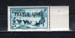 SAINT PIERRE ET MIQUELON N° 253 NEUF SANS CHARNIERE COTE  30.00€  ATTELAGE ANIMAUX  VOIR DESCRIPTION - Neufs