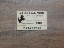Ancienne Carte De Visite De Cafe Bar Brasserie  Le Cheval Noir  Paris 10eme - Cartoncini Da Visita