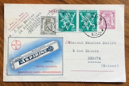 MEDICINA ASPIRINE ASPIRINA -  ADVERTISING PUBBLICITA' SU CARTE POSTALE BELGIQUE - 1864-04 (Christian IX)