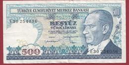 Turquie 500 Lira 1983 Dans L 'état - Turquia