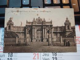 Cpa Constantinople. Porte Du Palais De Dolma Bagtché Contrôle Interallié De La Police Turque S.Postal 502. 1922 - Turquia