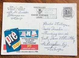 DETERSIVO  PRE POLYVALENT   -  ADVERTISING PUBBLICITA' SU CARTE POSTALE BELGIQUE - Lettere