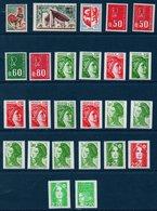 FR 1962-1997 Lot De 25 Timbres De Roulette Avec N° Rouge Au Verso ... Tous ** MNH - Francobolli In Bobina