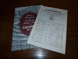 Catalogue Disques Parlophone Records Italian Recordings 1949 - Musique & Instruments