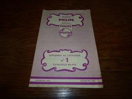 Catalogue Disques Supplément Au Catalogue N°1 Jan-Mai 1952 12p - Musique & Instruments