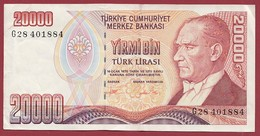 Turquie 20000 Lira 1995 Dans L 'état - Turquia