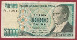 Turquie 50000 Lira 1989 Dans L 'état - Turquia