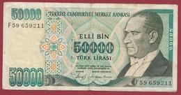 Turquie 50000 Lira 1989 Dans L 'état - Turchia
