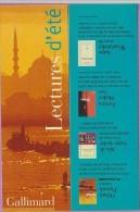 Marque-page °° Gallimard Lectures D'été - O.Pamuk Istanbul - Dép2v  7x21 - Bladwijzers