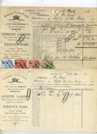 Bruxelles -  2 Items  :  :Brasserie - Brouwerij  LA COURONNE - Jean Vander Borght :Geuze Lambic -kroon's Bier 1929 - Belgium