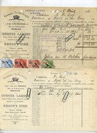 Bruxelles -  2 Items  :  :Brasserie - Brouwerij  LA COURONNE - Jean Vander Borght :Geuze Lambic -kroon's Bier 1929 - 1900 – 1949