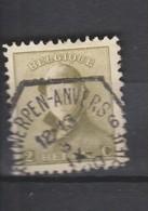 COB 166 Oblitération Télégraphique ANVERS 6 - 1919-1920 Albert Met Helm