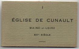 Carnet De 19 Cartes Postales Détachables Eglise De Cunault XIIme Siècle Maine-et-Loire - Kirchen Und Klöster