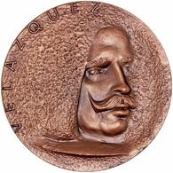 ESPAÑA. MEDALLA F.N.M.T. PINTOR DIEGO VELÁZQUEZ. 1.960. BRONCE. SPAIN MEDAL - Profesionales/De Sociedad