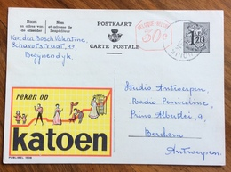 FIBRE COTONE  REKEN OP KATOEN  -  ADVERTISING PUBBLICITA' SU CARTE POSTALE BELGIQUE - Lettere