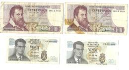 Lot De 9 Billets De Banques Belgique (voir Les Scans Et La Description) - Otros