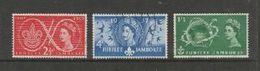 Great Britain, EIIR, 1957, Scouts Jubilee Jamboree, Set Of 3, Used - 1952-.... (Elizabeth II)